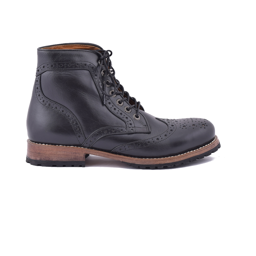 Premium Handmade Shoes Roura Brogue Best Quality Boots