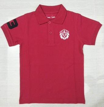 100% Cotton 220 GSM Children Good Quality Custom Design t shirt & Boys Custom Embroidery & Printed Polo T-Shirt.
