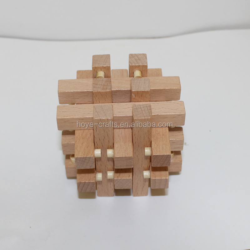 Brain Training Toy 3D Square Wooden Puzzle Cube