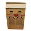 Corrugated cardboard 2 bottle fish sauce box with handles