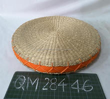 Thickness hand woven seagrass cushion high quality straw stool cheap price eco-friendly wicker home furniture