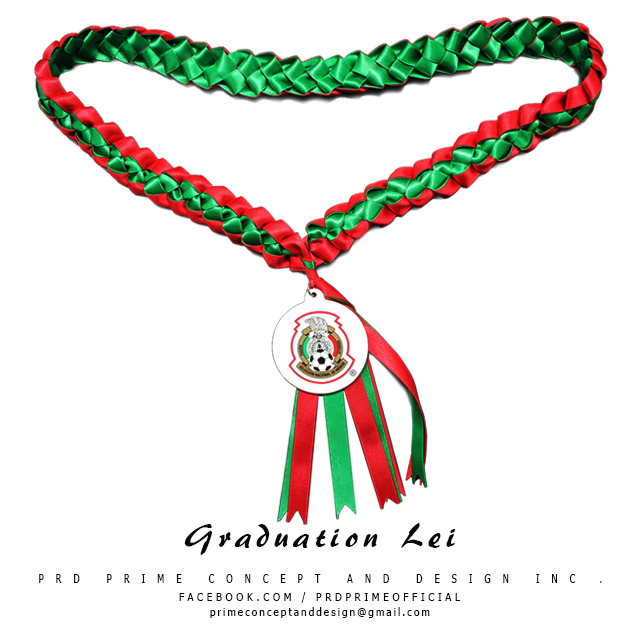 Graduation Lei with direct printed Logo