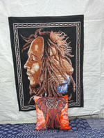 Boho Print Indian Bob Marley One Love Tapestry Wall Hanging Throw Cotton Poster Wall Decor