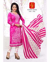 Fashion Queen Crape Designer Printed Salwar Kameez