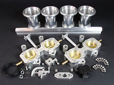 4 Cylinder DCOE 50mm Throttle Body Kit inc TPS Ram Tubes & Fuel Rail