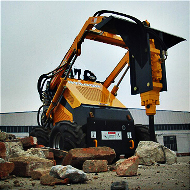 Concrete breaker hammer machine for mini skid steer