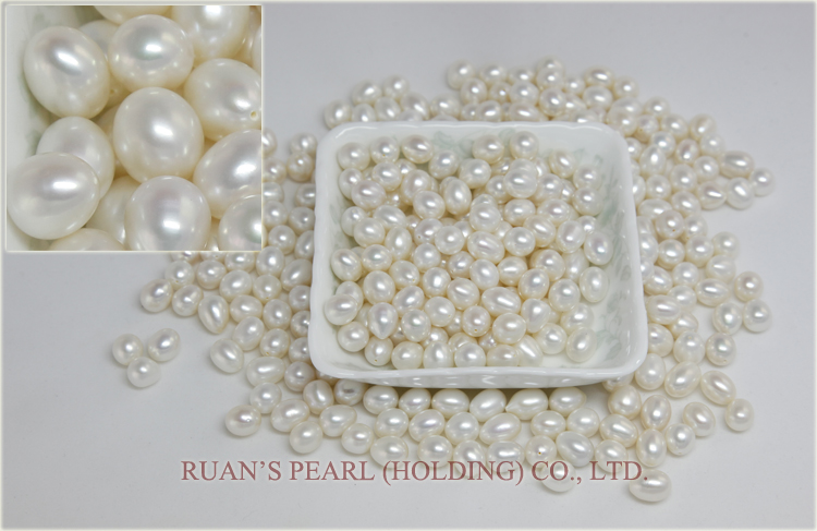 Wholesale 9 mm AA Quality Freshwater Cultured White Drop Pearls