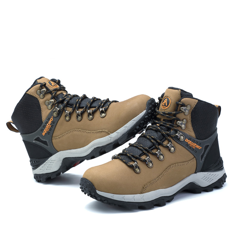 2017 Best Aquatwo Brand Waterproof and Warm Hiking Boots for Men