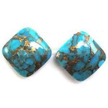 Blue Copper Turquoise Cushion Cabochon Loose Gem stone