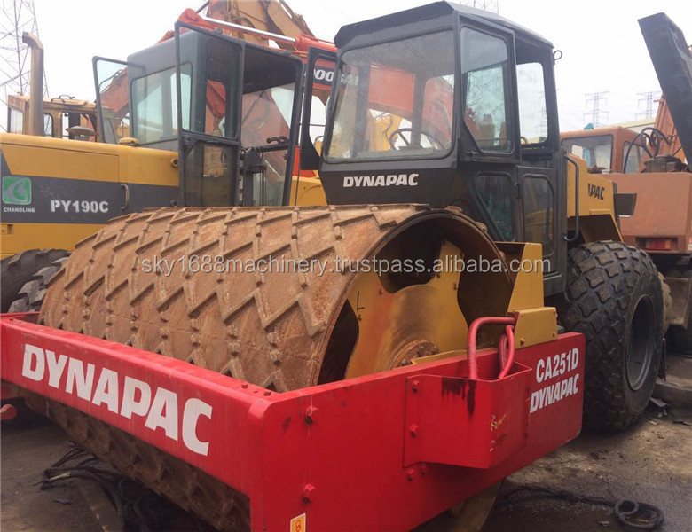 Used dynapac ca251d road roller with vibrator from china