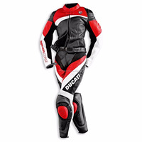 Motorcycle Leather Suit Sports Racing Genuine Leather Women 2 Piece--MS-177