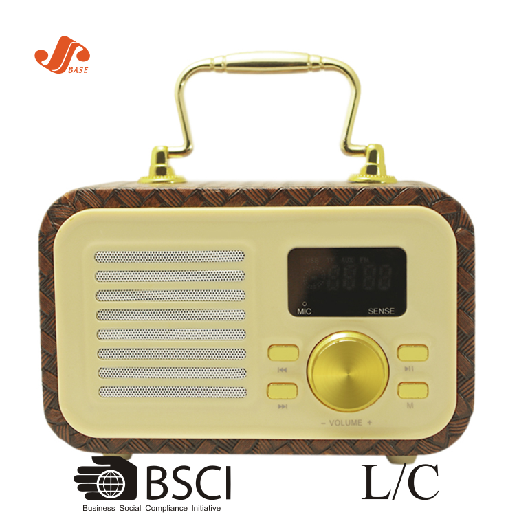 2018 China New Style Fabric Retro Portable Bt Speakers Wireless,FM Radio