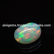 Solid Multi Flashy Fire Ethiopian Opal Cabochon Gemstone / Fabulous Rainbow Fire Opal