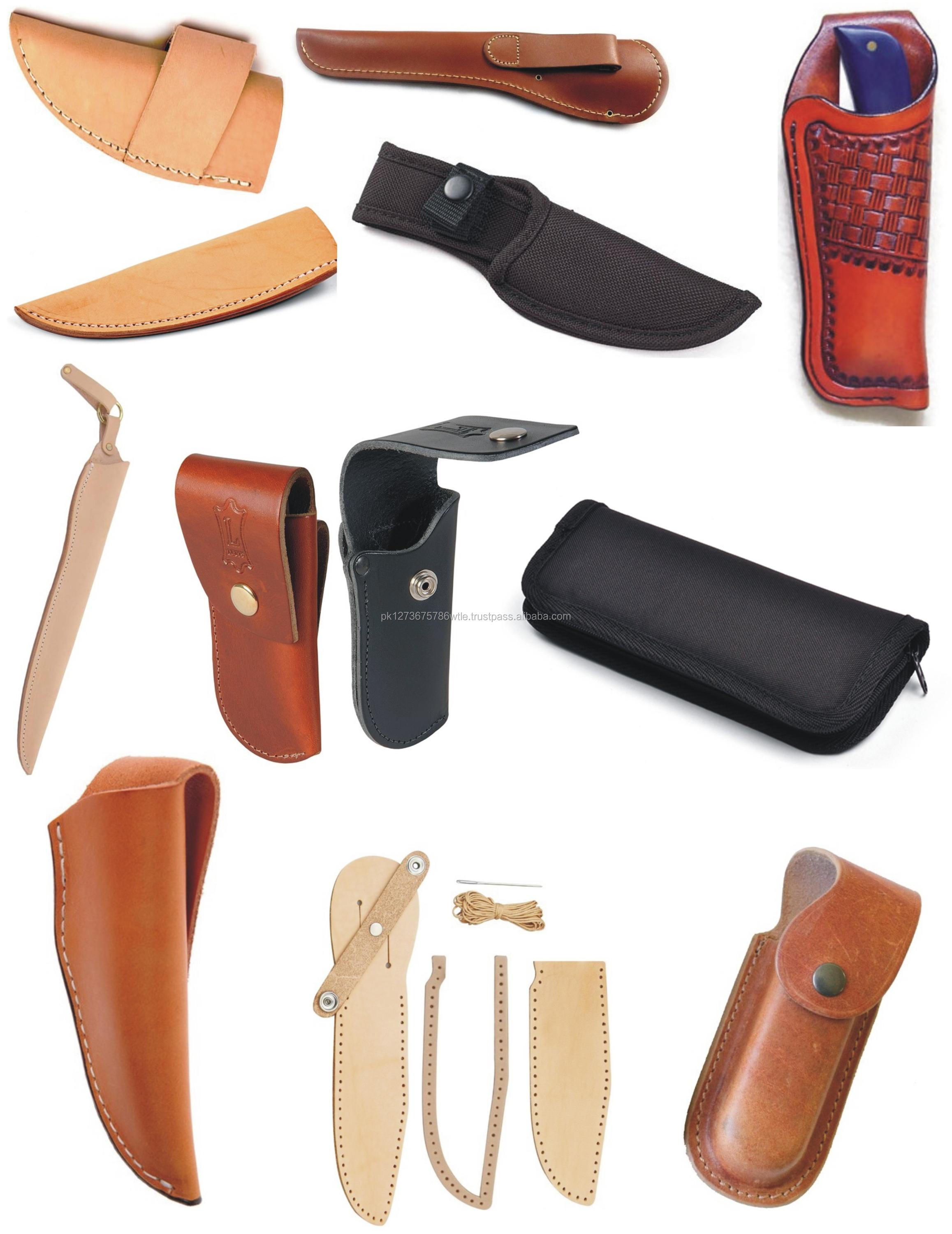 CUSTOM MADE HIGH QUALITY LEATHER HAND MADE KNIFE SHEATHS AND CASE
