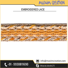Superior Grade Fabric Lace With Colorful Embroidery Design