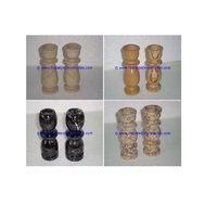 Popular candlestick marble candle holders column pillar pedestal stands tea lights
