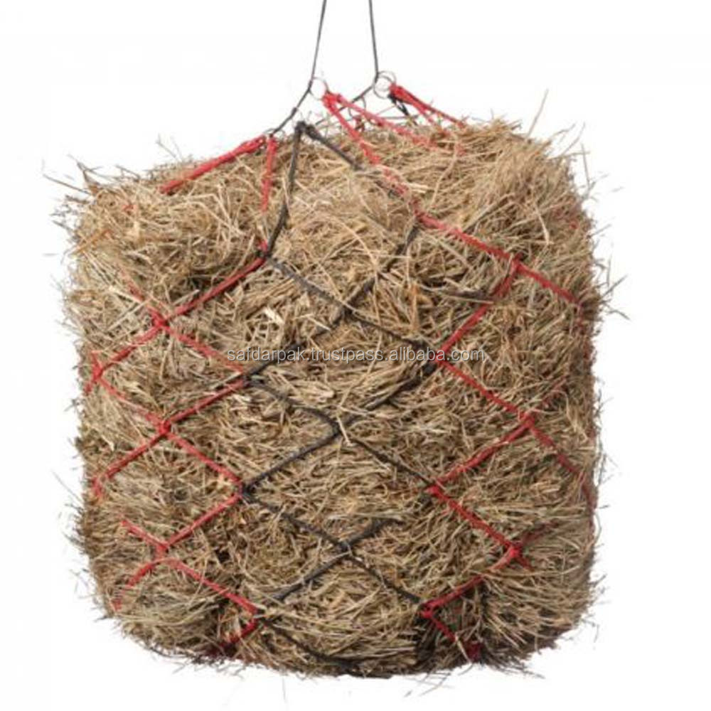 Horse Hay Bag Big Net Hangover with Rings Slow Feed Hay Bag