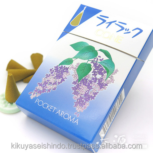 Daihatsu Incense Cones, Pocketan Tanka, Lilac, Pocket Aroma, japanese traditional accessories