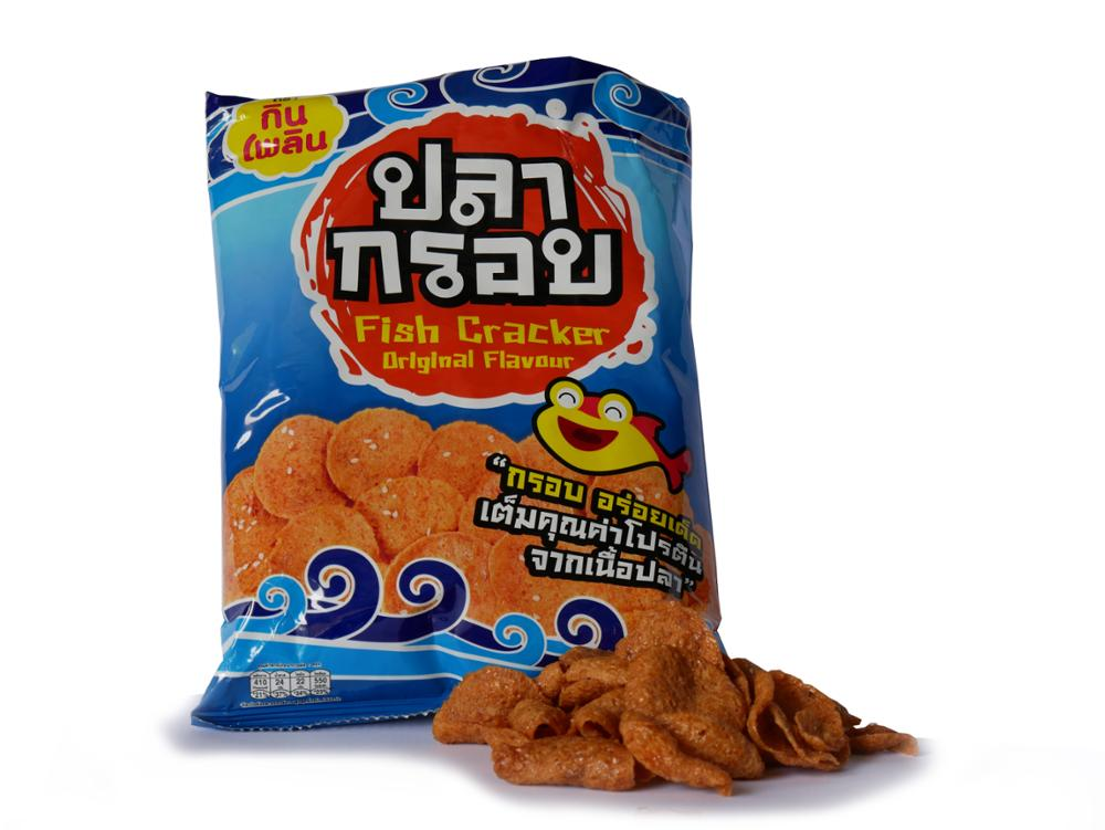Thai snack Crispy Fish Snack Original Flavor Thai Crispy Fish Halal snack