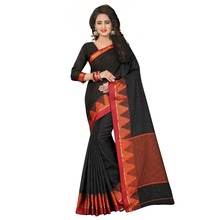 Fanciful Black Colored Woven Art Silk Casual Wear Saree