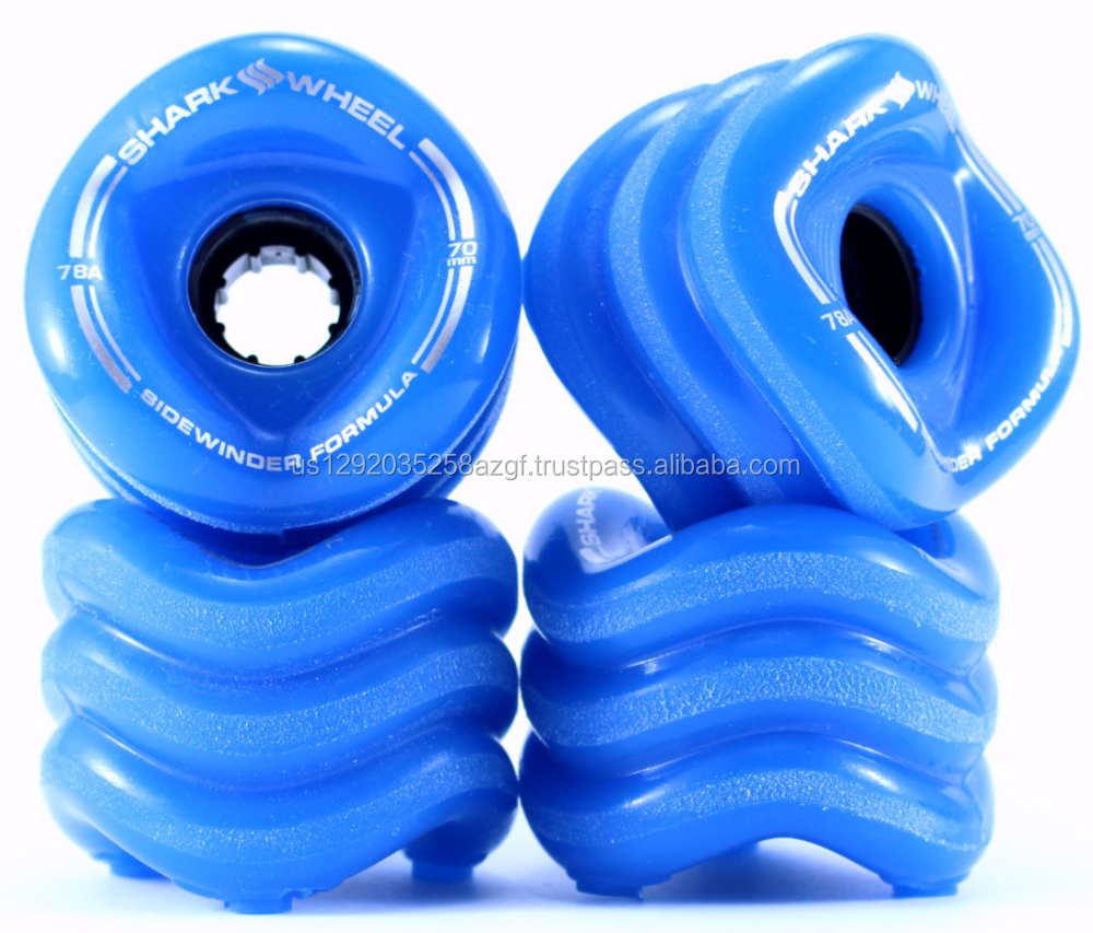 Shark Wheel 70mm Longboard Wheels - Blue (Made in US, not counterfeit)