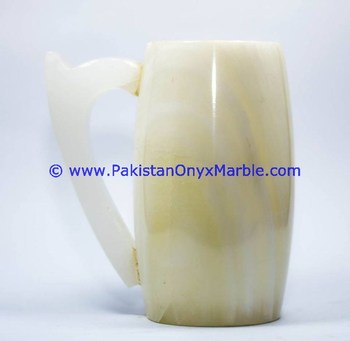HAND CARVED ONYX COFFEE CUPS OR MUGS HANDICRAFTS