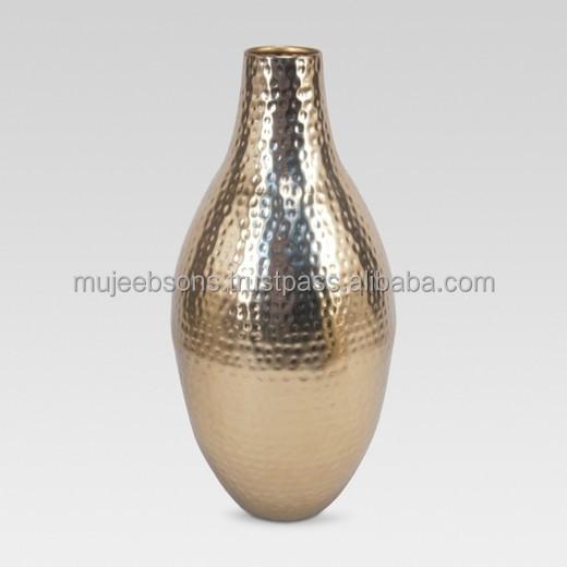 Rose Gold Hammered Vase For Your Daily Freshness Flower Vase Buy