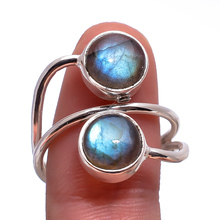 Rings For Women AAA+ quality new design 925 Sterli Blue Labradorite Ring Handmade 925 Sterling Silver Ladies Blue Ring