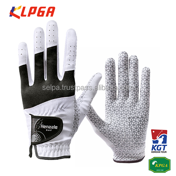 Korean Unisex Synthetic Leather Compression-Fit Grip Golf Gloves