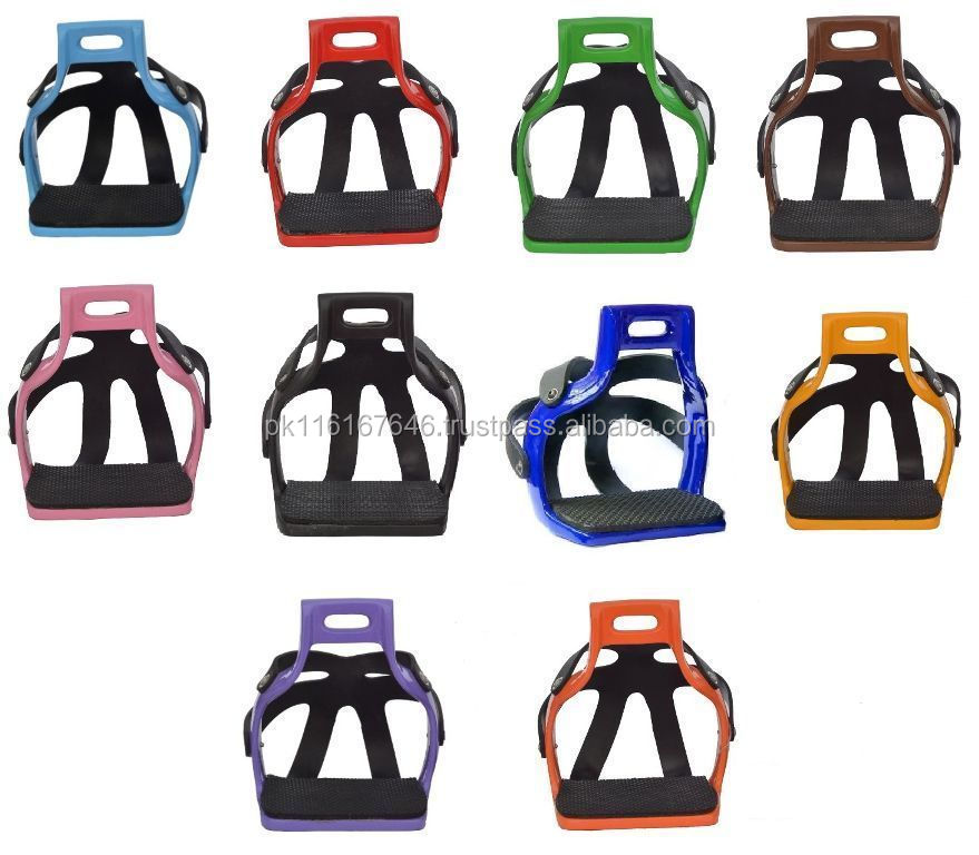 Horse Stirrups-Aluminium Different Colours Options Caged Podium Safety Stirrups-HE-232 Equestrian Horse Riding Equipments