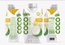 Coconut water flavors with pineapple juice TETRA PACK 330ml
