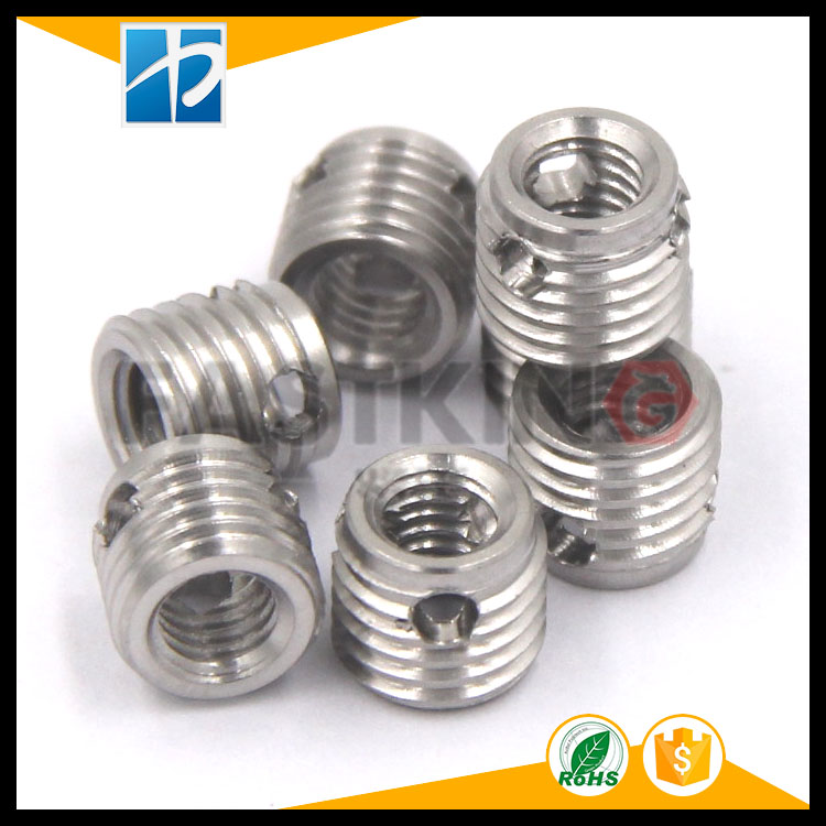 303 stainless steel self-tapping screw sleeve 307 type three-hole self-tapping sleeve with screw thread liner