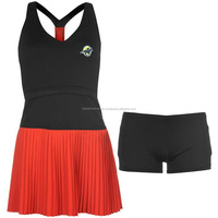 Wholesale women tennis dress made of polyester, Custom design and logo accepted