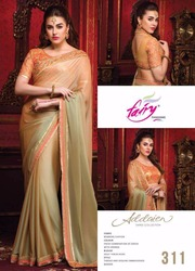 Bikaw Fashion Bemberg Chiffon Saree With Heavy Thread Work Blouse