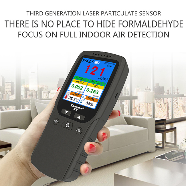2020 Popular air monitor gas analyzer handheld detector for Formaldehyde TVOC exhaust gas analyzer Colorful LCD Screen