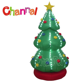 Christmas Decoration Led Lights Inflatable Christmas Tree With Wholesale Price