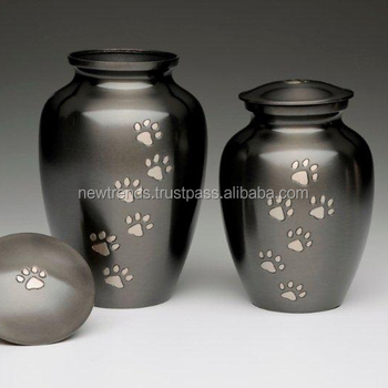 242 Metal Pet Urn with Paw Print Classic Slate Urn