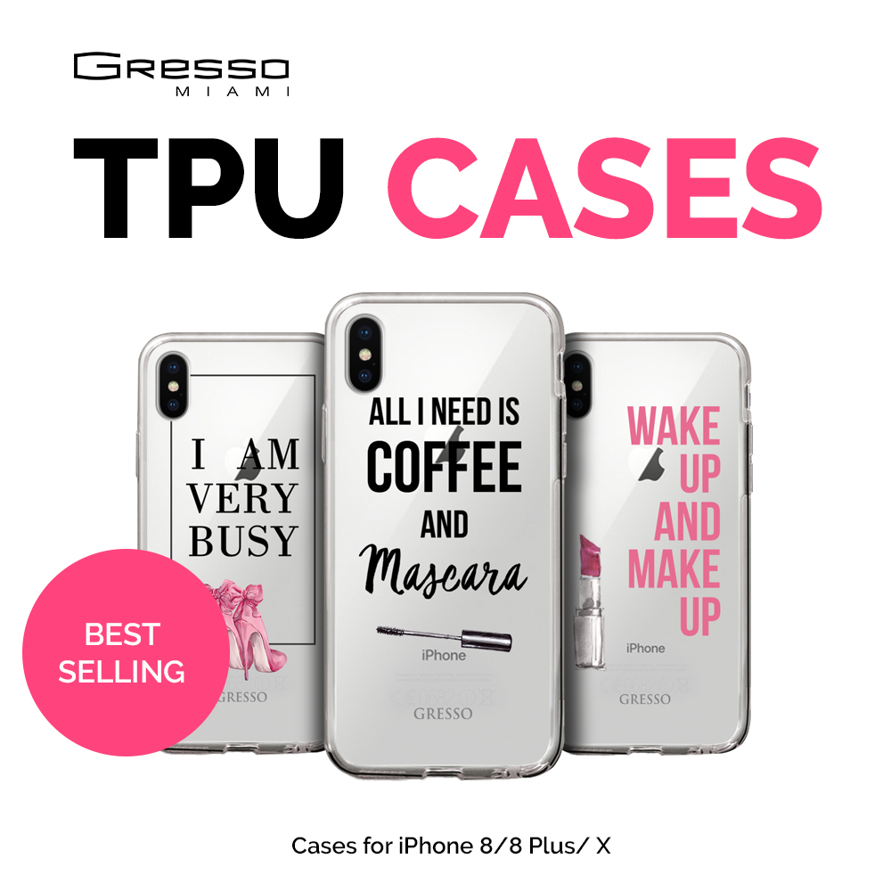 Transparent TPU Mobile Wallet Case for iPhone X 10 Plus with Unique Words Design Wholesale Custom