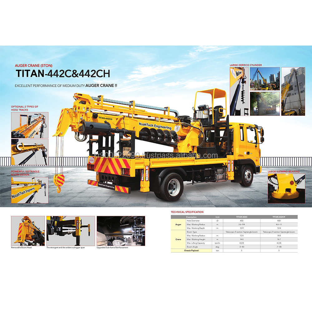 Best Selling High Quality Korean ISO Certificated Truck Auger Crane