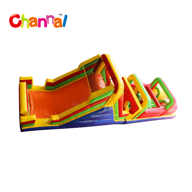 2018 hot sale Multi Colors Inflatable Obstacle Course outdoor obstacle course equipment