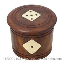 Hot sale wooden dice mug box for indoor and outdoor game