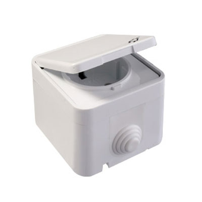 High Quality Best Price Surface Mounted Earthed Socket With Lid