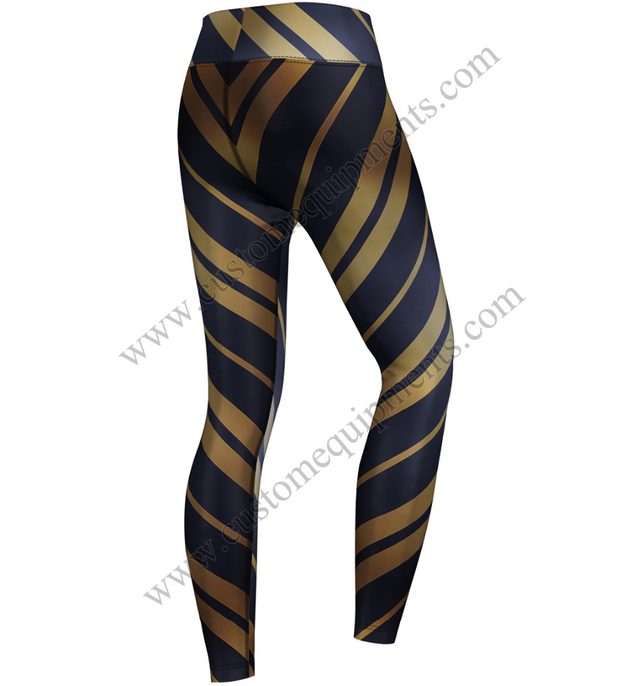 Aquatic Zebra Leggings OEM service custom made yoga pants wholesale women leggings tights from Sialkot Pakistan Manufacturer