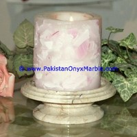 NATURAL MARBLE CANDLE HOLDERS COLUMN PILLAR PEDESTAL STANDS