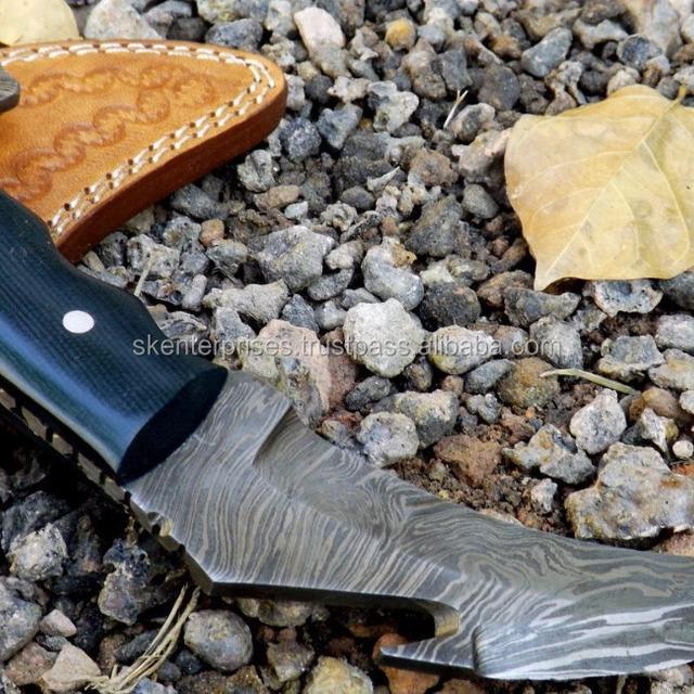 Hand made Damascus Karambit knife with Micarta sheet Handle SK-244