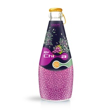 Tropical 330ml Glass Bottle Mix Fruit Flavor Chia Seed Drink