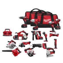 Milwaukee 2696-29 Milwaukee M18 18V Cordless 15-Pieces Combo Kit
