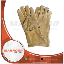 "14"" Leather Welding Safety Gloves Grade A/AB/BC"
