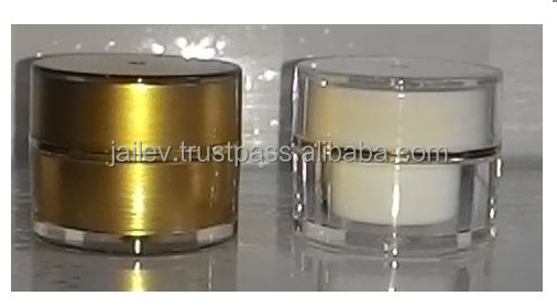 Elegant 5g Venice Glass Cosmetic Jar