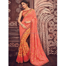 Peach Georgette Butti Saree / Saree Indian Wear / Low Price Sarees Online Shopping
